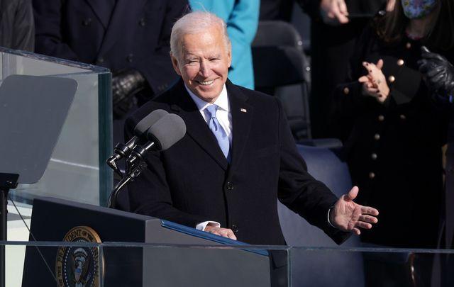 January 20, 2021: Joe Biden at his inauguration.