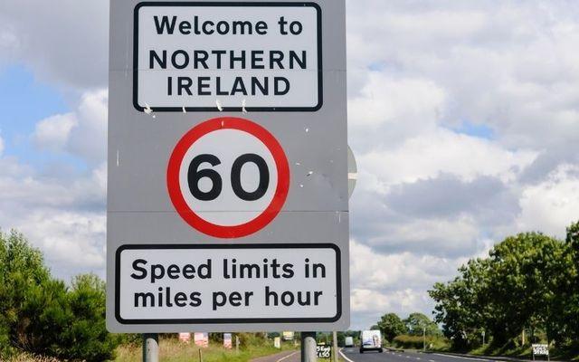A sign at the Northern Irish border.