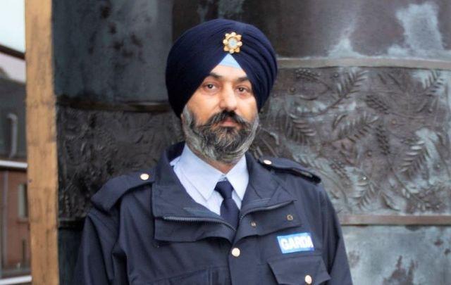 Ravinder Singh Oberoi, the first Sikh member of Ireland\'s Garda Reserves.