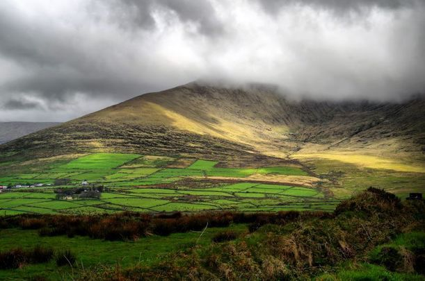 Rain clouds rolling in near Dingle, County Kerry.