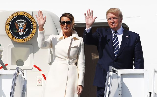 Melania and Donald Trump arriving to Ireland in June 2019.