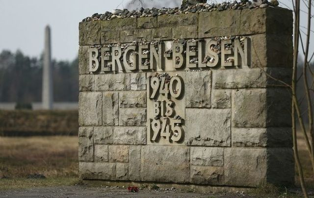 A memorial at Bergen-Belsen.
