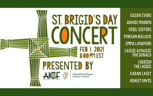 The AICF will host A Celebration of St. Brigid this Monday, February 1 - tune in here!