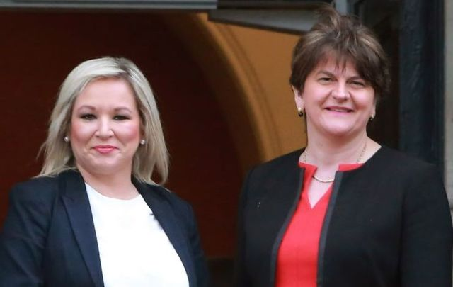 January 13, 2020: (L-R) Michelle O\'Neill, Deputy First Minister of Northern Ireland, and Arlene Foster, First Minister of Northern Ireland.
