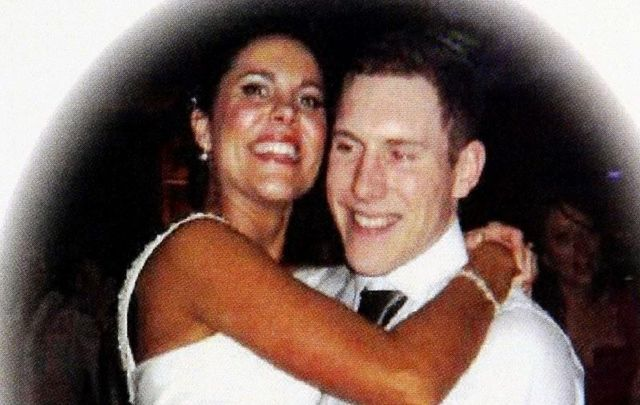 A picture of Michaela and John McAreavey on their wedding day in January 2011.