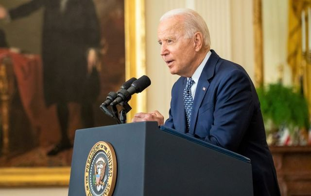 August 10, 2021: President Joe Biden delivers remarks on the passing of the bipartisan Infrastructure Investment and Jobs Act, Tuesday, August 10, 2021, in the East Room of the White House.