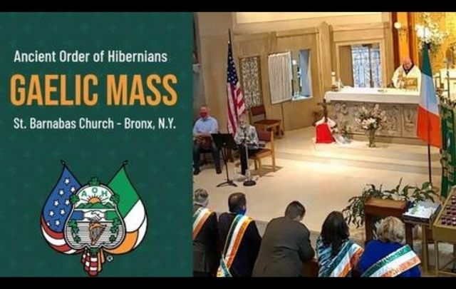 The AOH\'s Gaelic Mass, streamed on October 2, had viewers from across the country as well as in Ireland.
