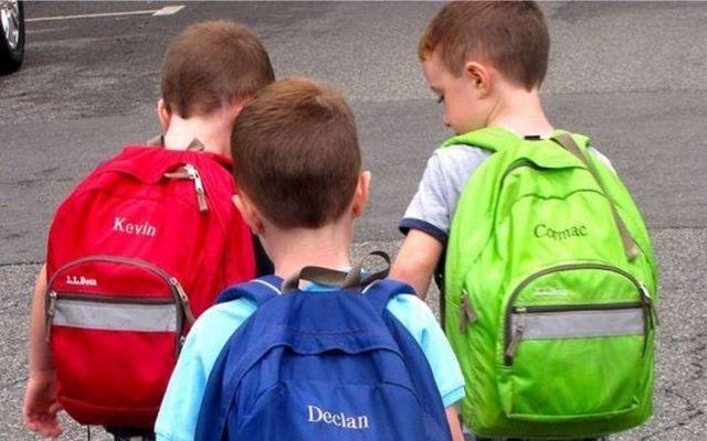 Pupils heading to school