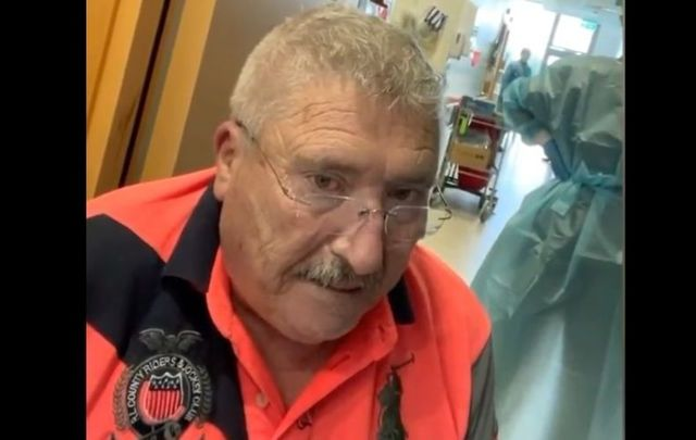 Donegal man Joe McCarron, who died of COVID on Friday, September 24. He was featured in a viral video leaving Letterkenny Hospital against the advice of doctors.