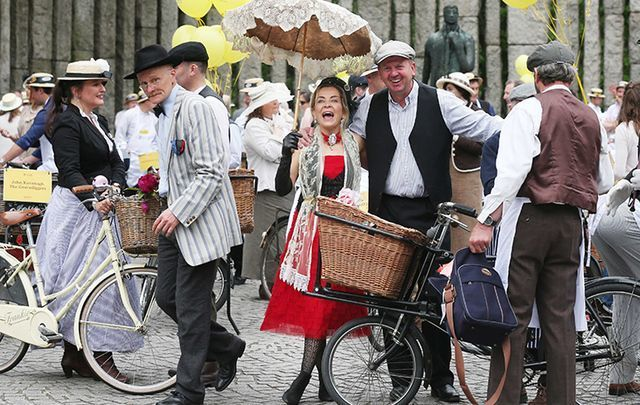 Irish literary enthusiasts celebrate Bloomsday in Dublin. \n