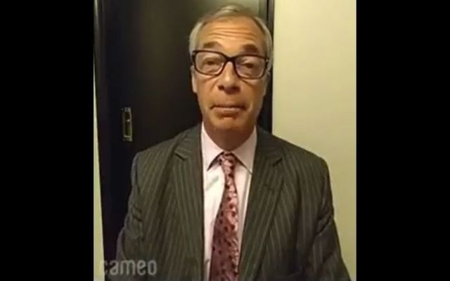 """Nigel Farage has responded after saying \""""Up the \'Ra!\"""" in a recent Cameo video."""