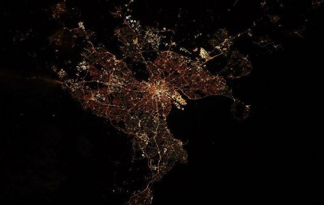 Astronaut Shane Kimbrough shared this amazing shot of Dublin taken from the International Space Station on October 11.
