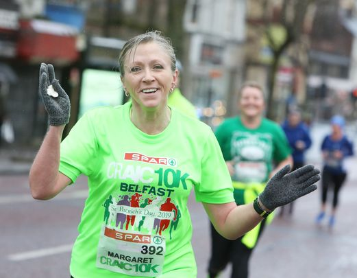 ON YOUR MARKS: Craic 10K runners in Belfast, St Patrick\'s Day, pre-Covid