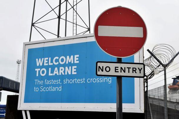 February 2, 2021: Larne in Northern Ireland.