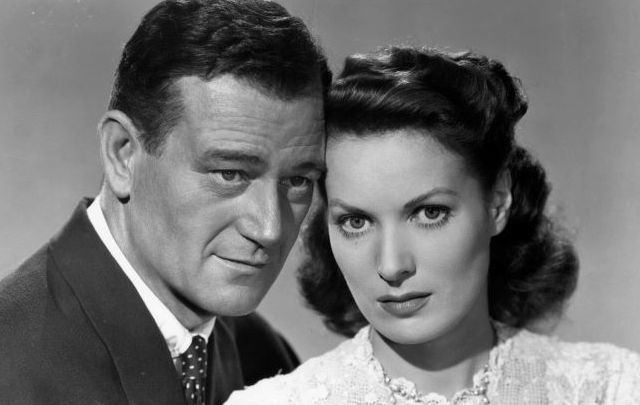 John Wayne and Maureen O\'Hara famously starred together in the beloved film \'The Quiet Man\'.