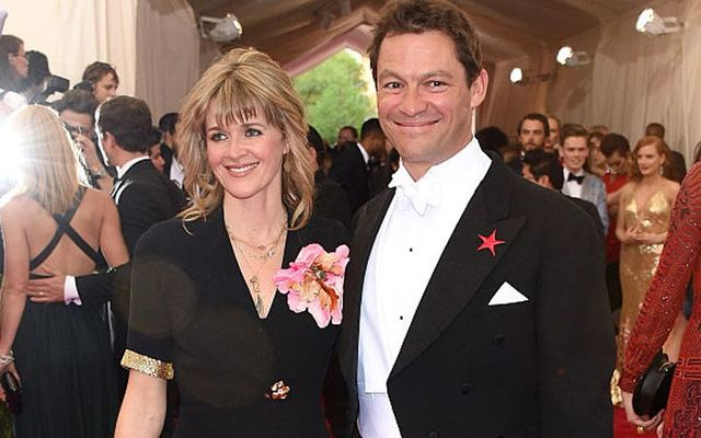 Catherine Fitzgerald and Dominic West at the Costume Institute Benefit Gala at the Metropolitan Museum of Art on May 4, 2015 in New York City.
