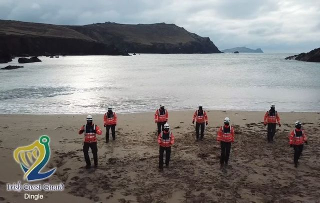 The Dingle Coast Guard filmed their own version of the #Jerusalema challenge.