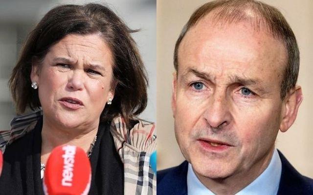 Mary Lou McDonald, the leader of Sinn Féin, and MicheálMartin, the leader of Fianna Fáil.