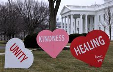 WATCH: The Bidens unveil heartwarming Valentine's Day display at the White House