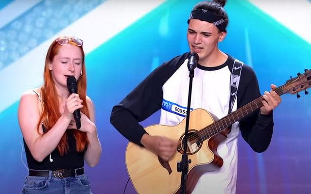 Abigail Mulchahy and Frederico Perotti on Italia\'s Got Talent.