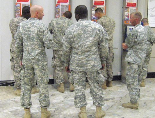 US troops in Shannon Airport, photographed in Aug 2010.