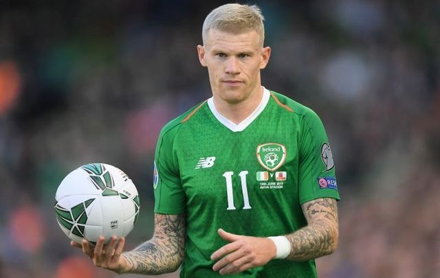 June 10, 2019: James McClean in action during the UEFA Euro 2020 Qualifying Group D match between Ireland and Gibraltar at Aviva Stadium in Dublin, Ireland.