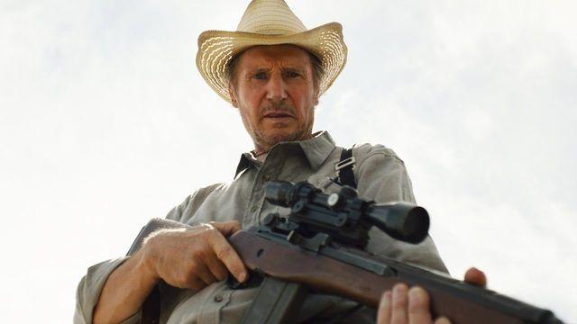 Liam Neeson in his latest movie, The Marksman.