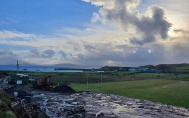 Clare Island GAA\'s pitch is one of the most scenic pitches in Ireland.