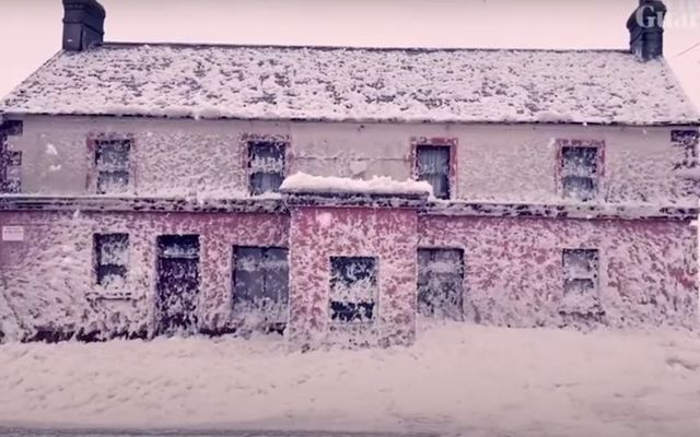 Footage from local furniture maker Jody Sutton, shows sea foam covering the village of Bunmahon in Co Waterford, Ireland.