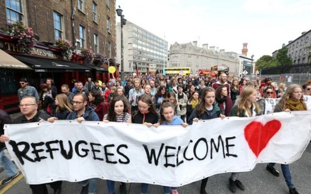 A 2015 protest supporting refugees.