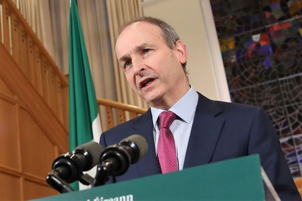 February 23, 2021: Taoiseach Micheal Martin addresses the nation regarding the extension of Level 5 until April 5.
