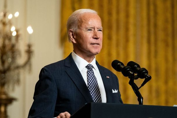 February 19, 2021: President Joe Biden delivers remarks at a virtual event hosted by the Munich Security Conference in the East Room of the White House in Washington, DC.