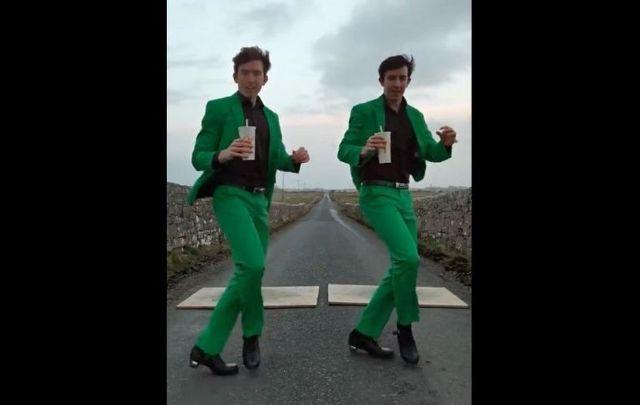 The Gardiner Brothers in their latest Irish dance video for McDonald\'s Shamrock Shakes!