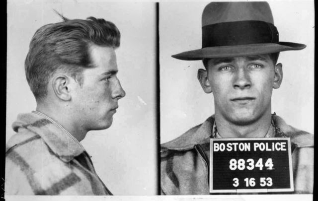 An old Whitey Bulger mugshot from the Boston Police.