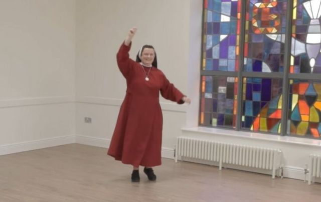 The Redemptoristine Nuns became the latest group to take on the viral dance challenge.