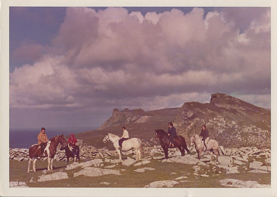 Horse riders near Horn Head, Donegal.