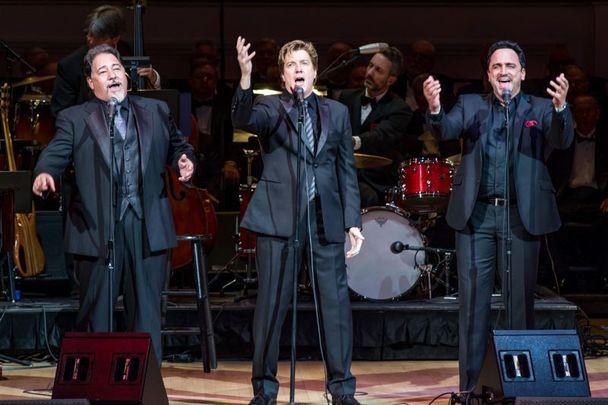 The New York Tenors - Daniel Rodriguez, Andy Cooney, and Christopher Macchio.