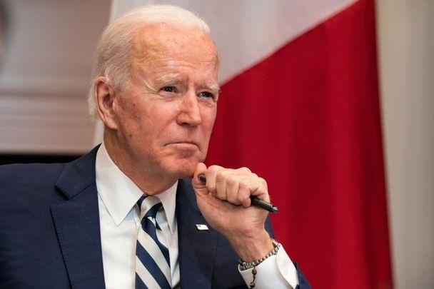 March 1, 2021: President Joe Biden in the Roosevelt Room of the White House.