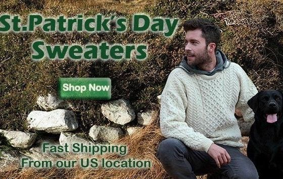 St. Patrick\'s Day sweaters with CelticClothing.com