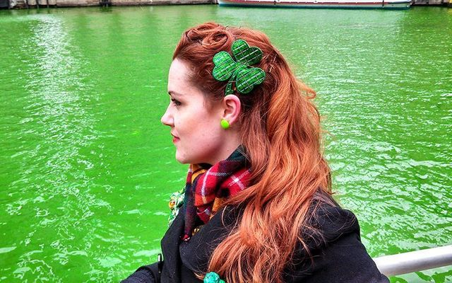 The green of the Chicago River for St. Patrick\'s Day.