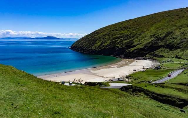 Keem Beach on Achill Island, off County Mayo.