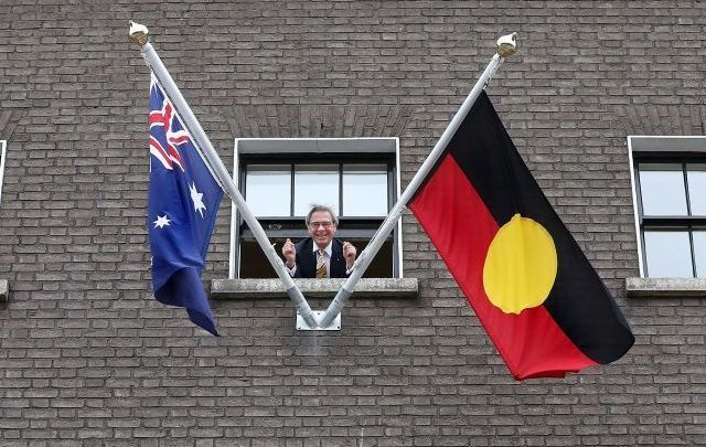 The Aboriginal flag is now a permanent feature at the Australian Embassy in Dublin, Ireland.