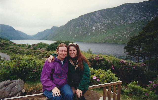 Stuart and Meredith at Glenveagh 1991