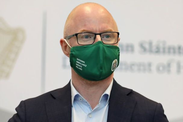 February 24, 2021: Minister for Health Stephen Donnelly as he briefed media on the COVID-19 Vaccine Allocation Strategy.