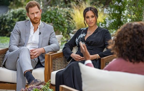 Meghan and Harry with Oprah Winfrey.