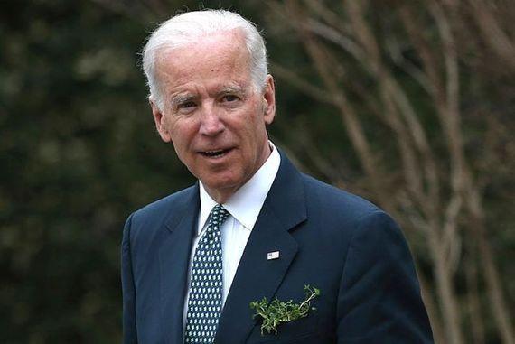 Joe Biden celebrates St. Patrick\'s Day while serving as Vice President.