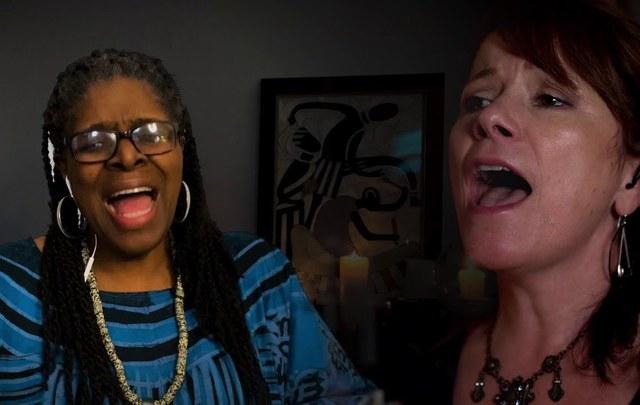 Cathy Jordan and Dr. Kathy Bullock