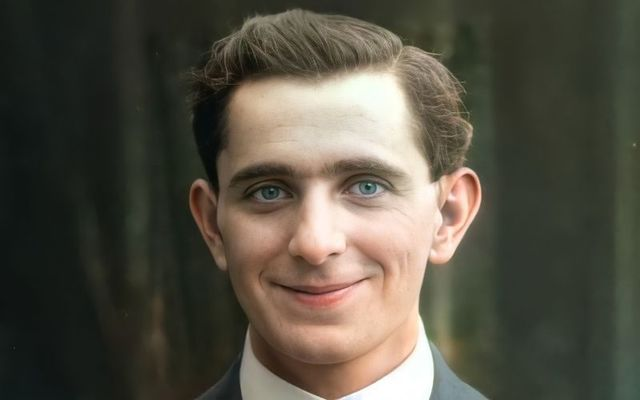 Loughrey restored and animated an image of 1916 Easter Rising leader Sean Mac Diarmada from 1910.