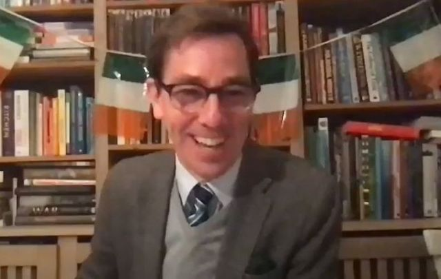 Ryan Tubridy Zoomed in from Ireland for Irish in France\'s St. Patrick\'s Day event.