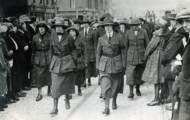 Cumann na mBan Women Marching